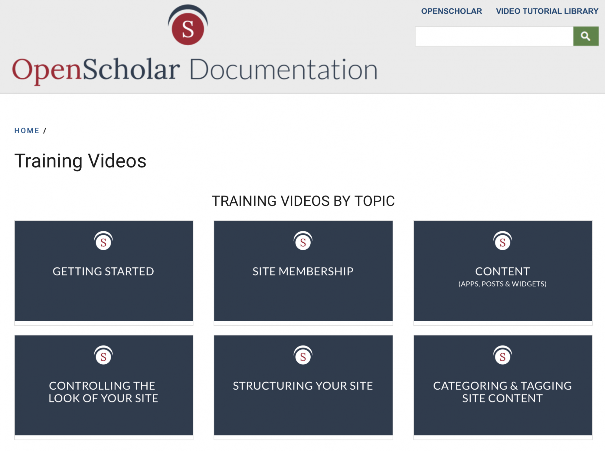 OpenScholar training videos