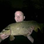 Holland Austin with carp he caught